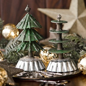 Christmas Tree Using Recycled Materials.Tiny Christmas Trees Made From All Sorts Of Recycled