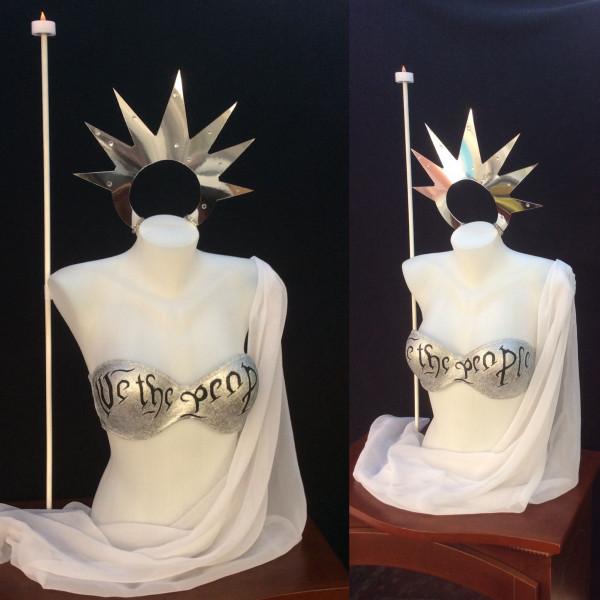 Bras For The Cause – My Statue of Liberty / We the People creation