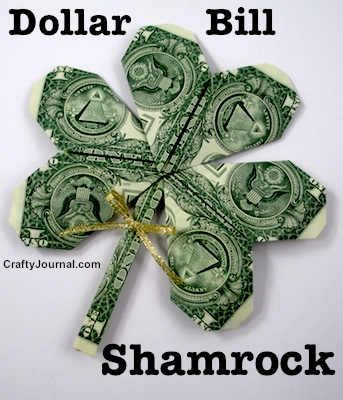 How to fold an easy Shamrock for St. Patrick's Day