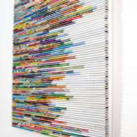 Etsy Feature - wall art- made from recycled magazines