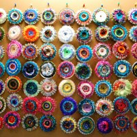 How to make recycled cd weaving art