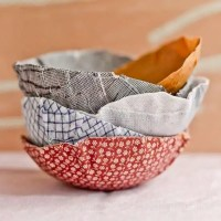 How to make tiny fabric bowls