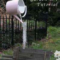 How to make a crystal dripping watering can decoration