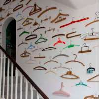 Unexpected way to use a clothing hanger collection as a decorating element and more!