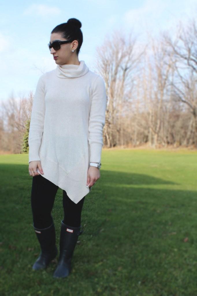 Hunter Boots x Asymmetrical Sweaters