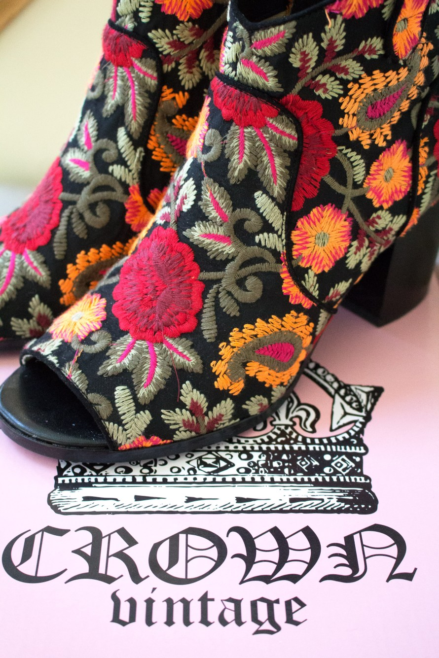 Embroidered Booties and Staying Ahead of the Trends