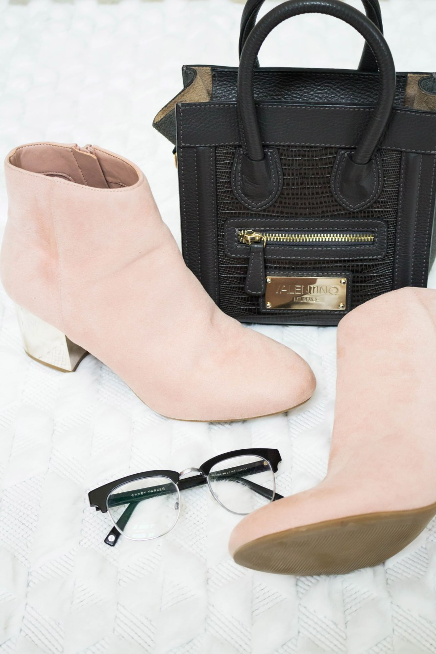 TJ Maxx Yellow Tag Clearance and Blush Pink Booties