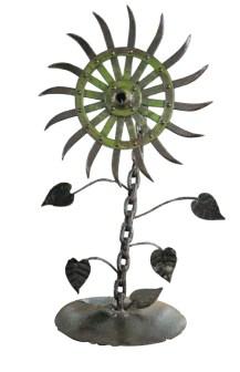 whimsical metal flower