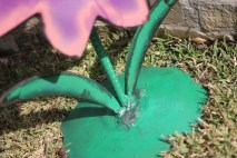 Whimsical Purple Metal Flower Outdoor Sculptures Art Garden Decor Artwork