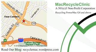 MacRecycleClinic Business Card - Back