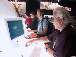 One of our favorite shots of Jim - here at a MacWorld Conference in NYC many years ago.