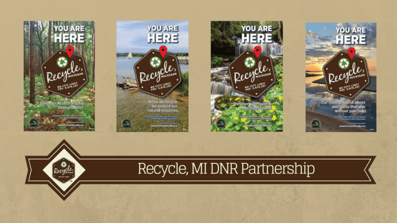 Recycle, MI in State Parks!