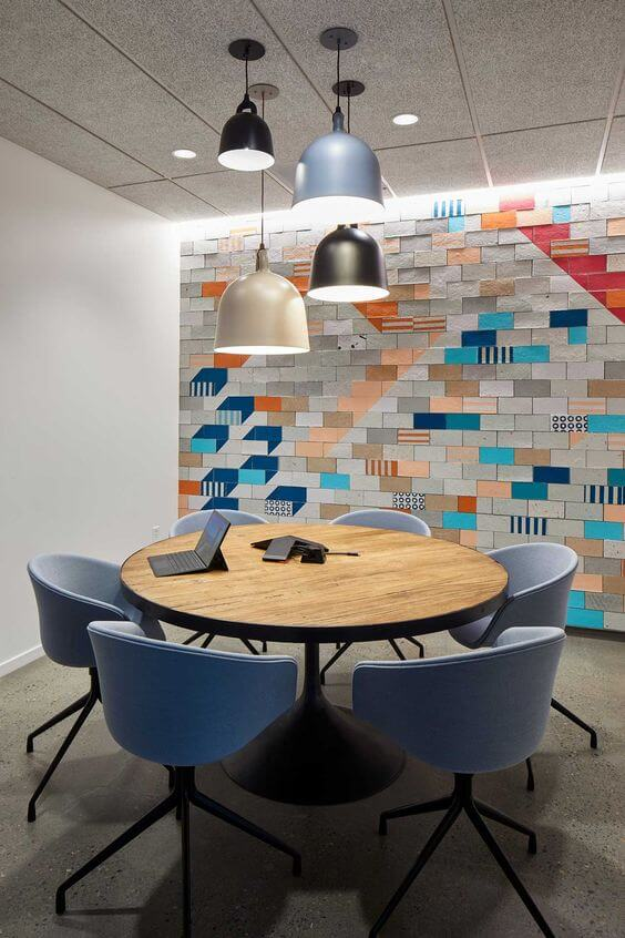 Office workspaces colorfully ideas