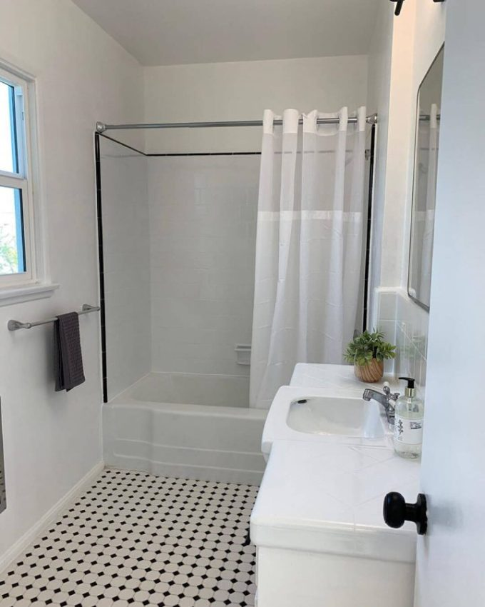 bathroom before and after remodel limited cost