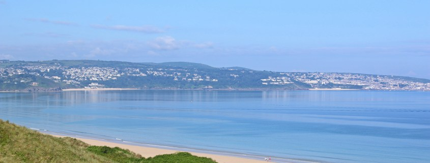 Photograph of St Ives Bay on a glorious sunny morning