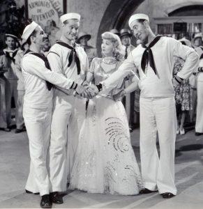 Ben Blue, Red Skelton, Ann Sothern & Rags Ragland in Panama Hattie (1942 film)