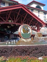 Entrance to the hotel side of the Soaring Eagle Casino.