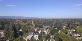 View from the Palo Alto classroom at Red Hat's offices.