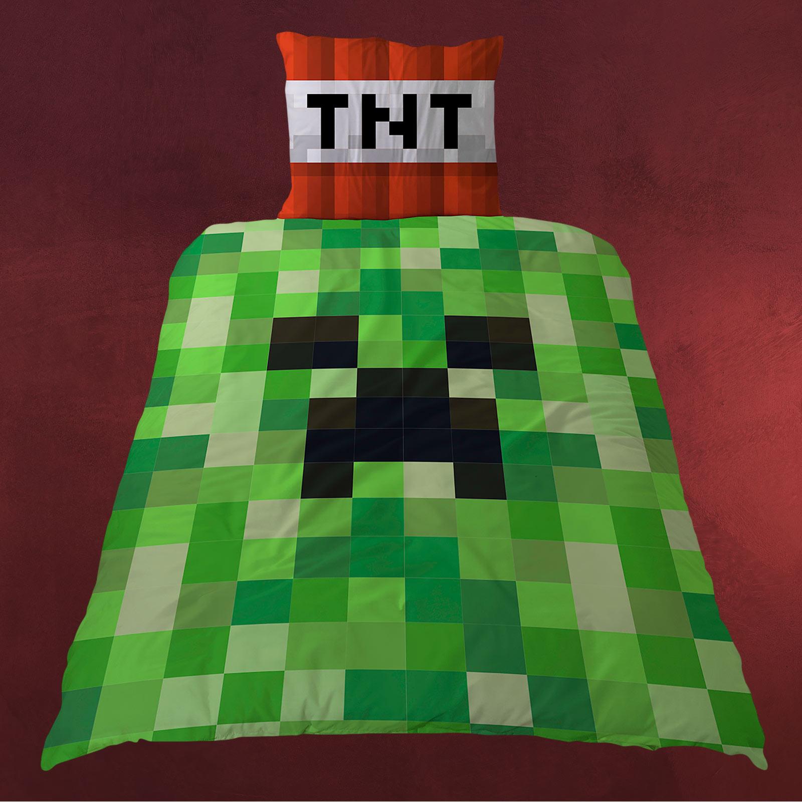 Minecraft TNT Creeper Wende Bettwsche Elbenwald