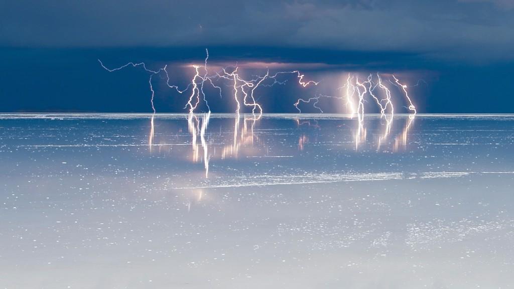 Tormenta sobre el Salar de Uyuni