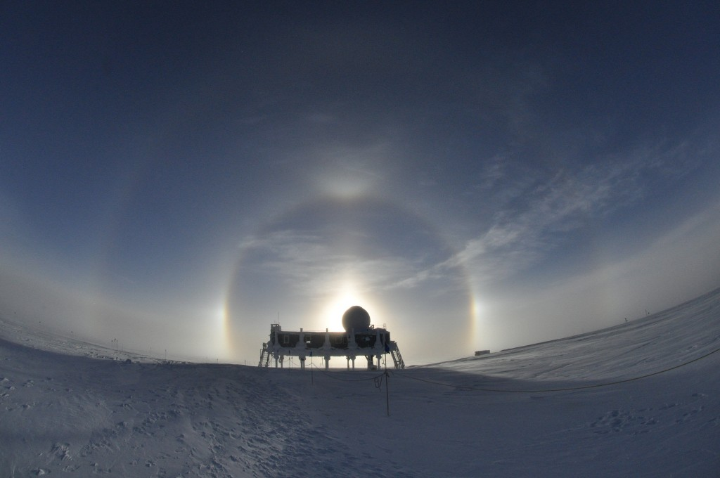Sun dogs and halo
