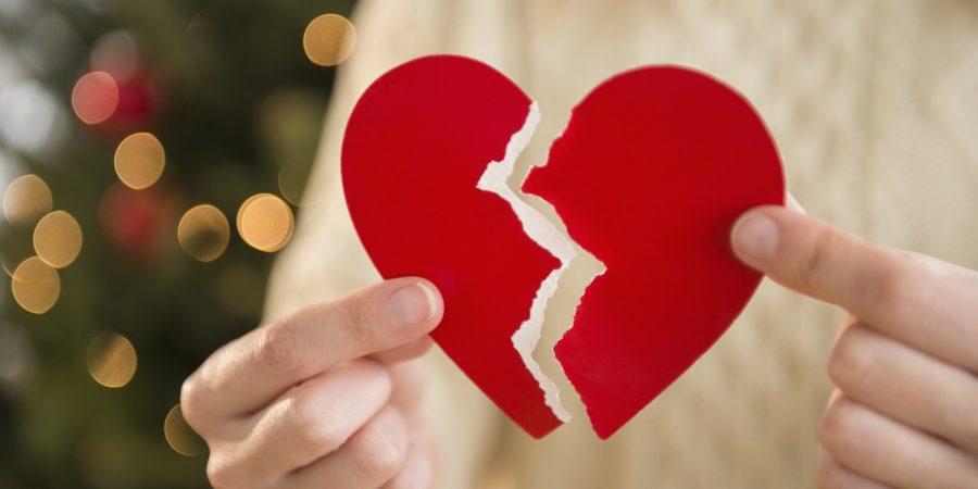 corazon roto en navidad