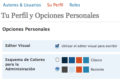 Nuevas opciones en perfiles de usuarios