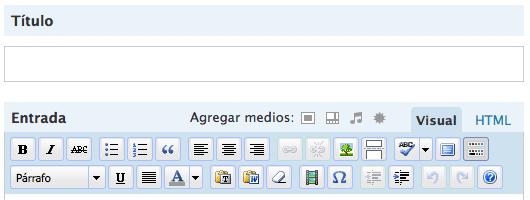 Escribir articulo en español