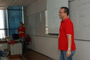 Prof José Trigo e Prof Patrícia Paixão na palestra