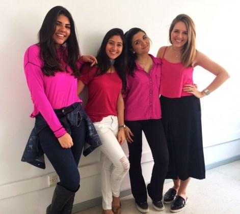 Gabriela Cesário, Isabella Massoud, Isabella Banzatto e Júlia Mello