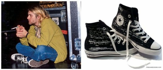 Kurt Cobain usando All Star