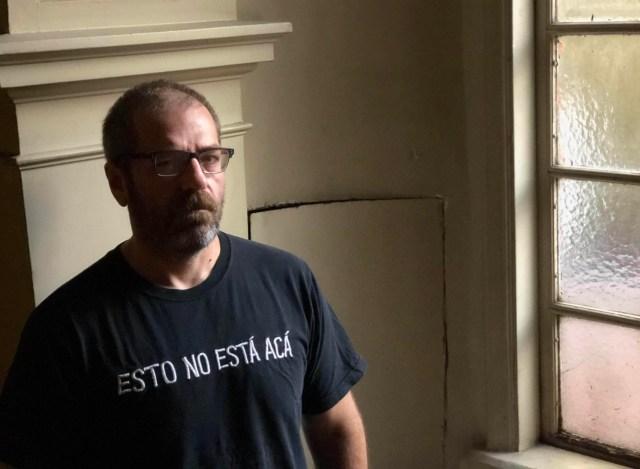 El escritor Carlos Busqued Foto: Télam/cgi