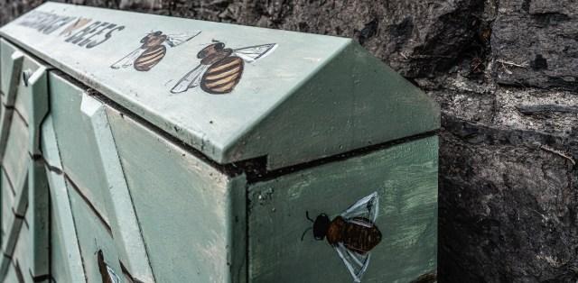 Un gabinete de jardín para abejas en Dublín. Crédito: www.flickr.com/infomatique