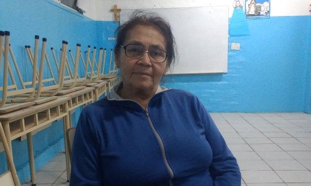Felipa tiene 68 años y el año pasado arranco la primaria en Caacupé.