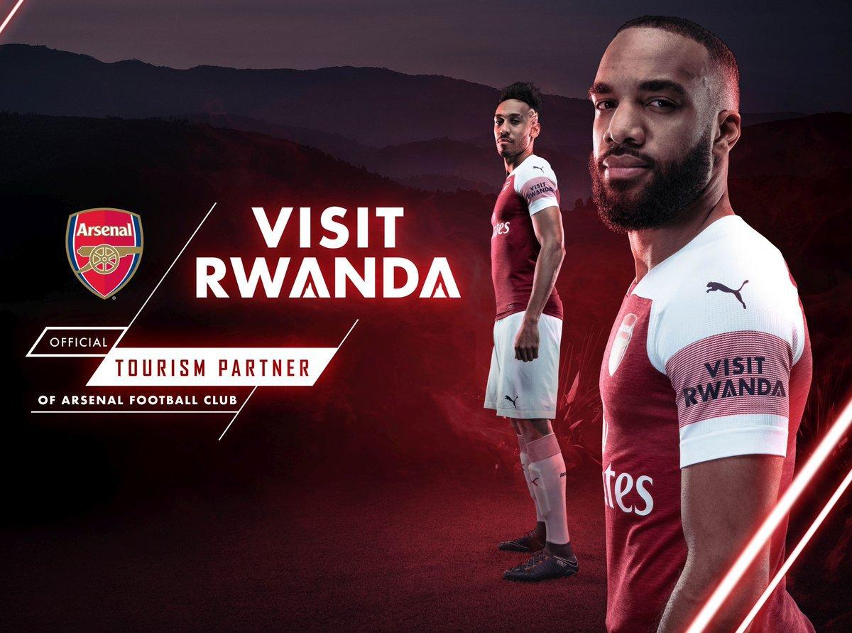Visit Rwanda, la publicidad en la camiseta del Arsenal F.C.