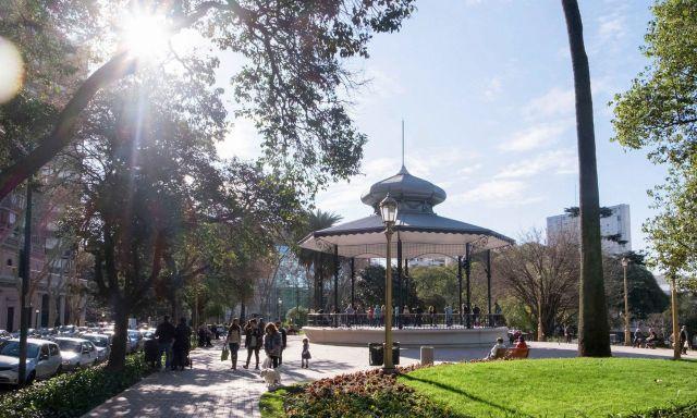 Barrancas de Belgrano, uno de los espacios verdes de la comuna 13.   Facebook Gobierno CABA
