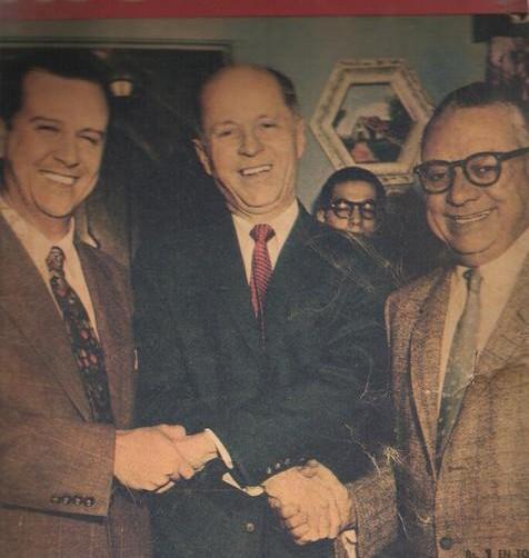 Rómulo Betancourt, Raúl Leoni , Gonzalo Barrios y Jóvito Villalba Firmantes del pacto de Punto Fijo