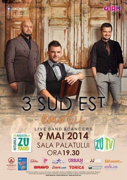 Concert 3 Sud Est pe 9 mai la Sala Palatului
