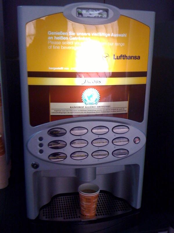 Neuer Kaffeeautomat bei Lufthansa