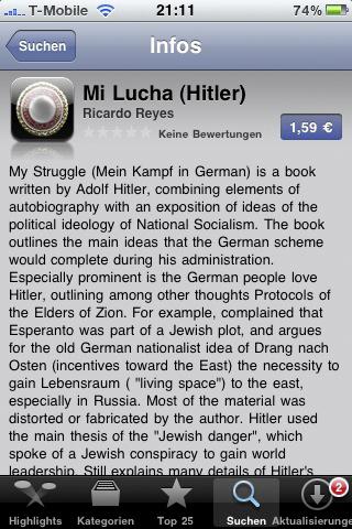 Mein Kampf im AppStore