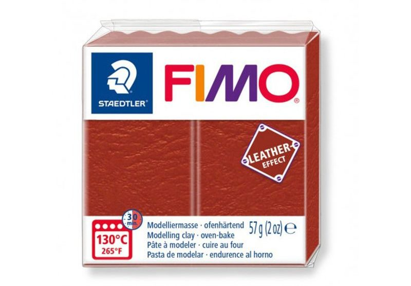 Fimo cuir effect