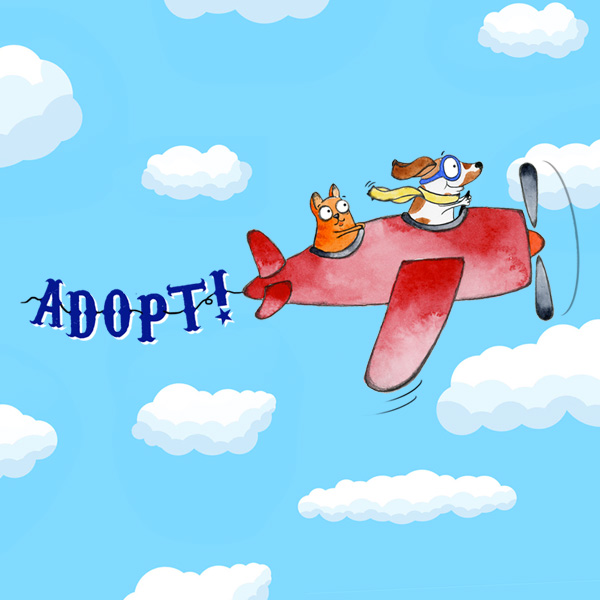 Adopt... Because Animals are Awesome!  (Skywriting Doggie)