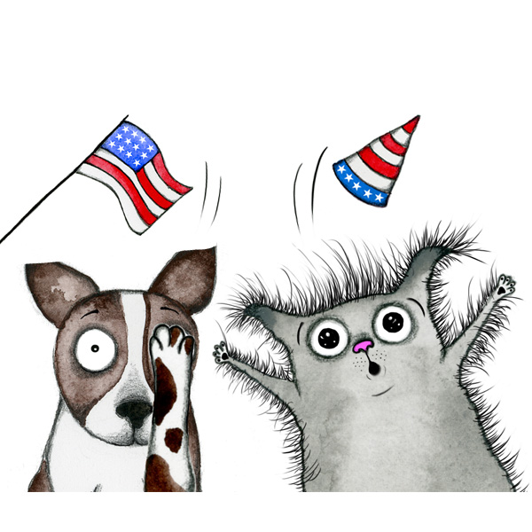 4th of july dog. Happy th keep your