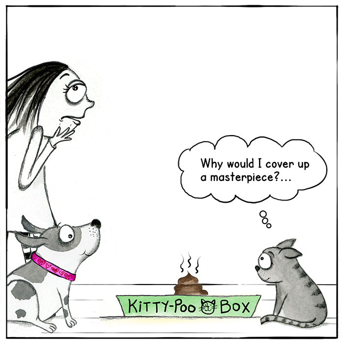 redandhowling_CatPoop02