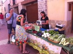 Puesto de hortalizas ecológicas