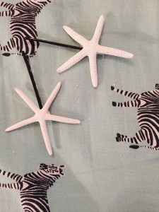 Sea star hair accessories on Etsy