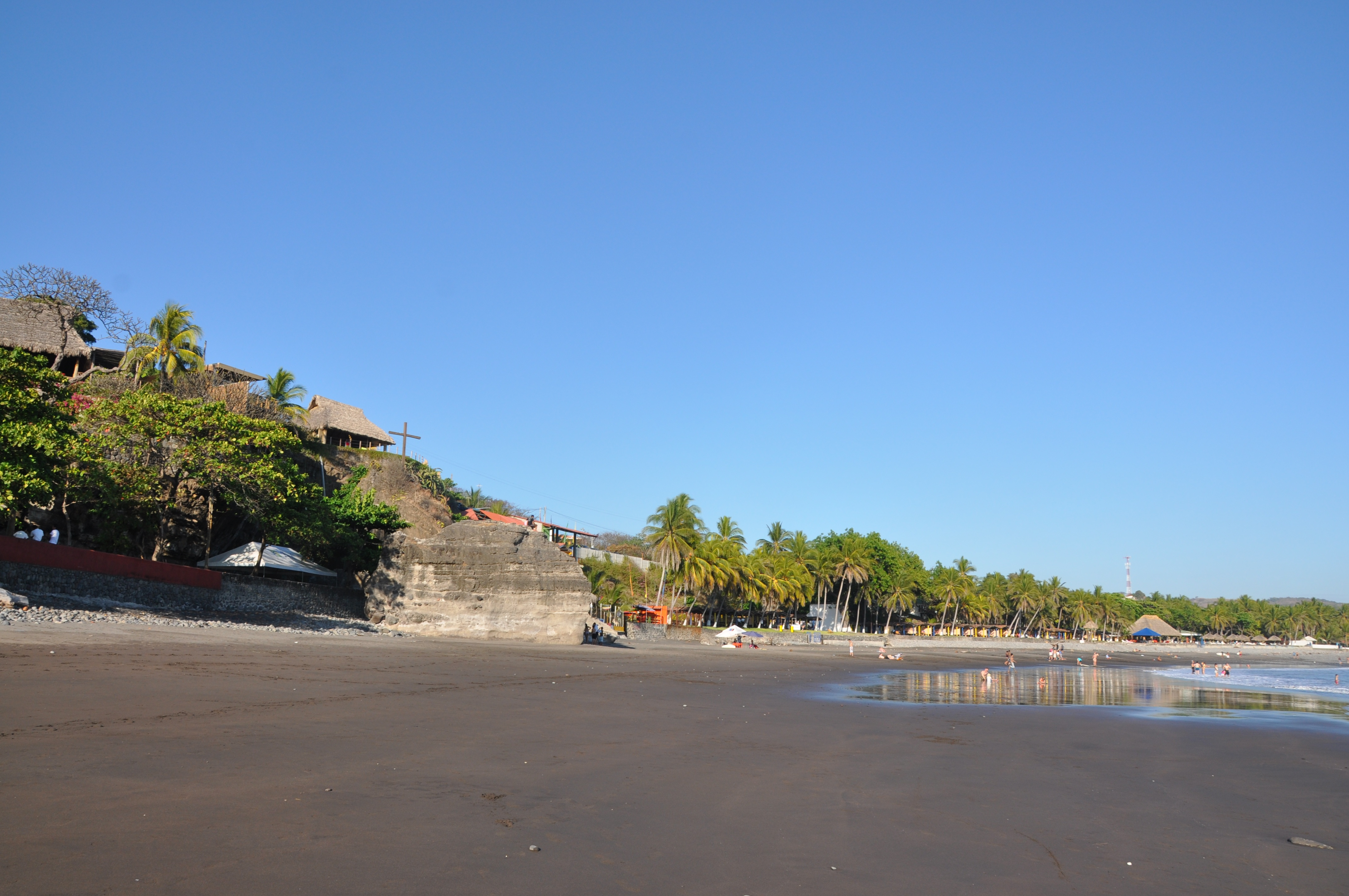 At the El Sunzal point at Playa El Tunco, El Salvador.