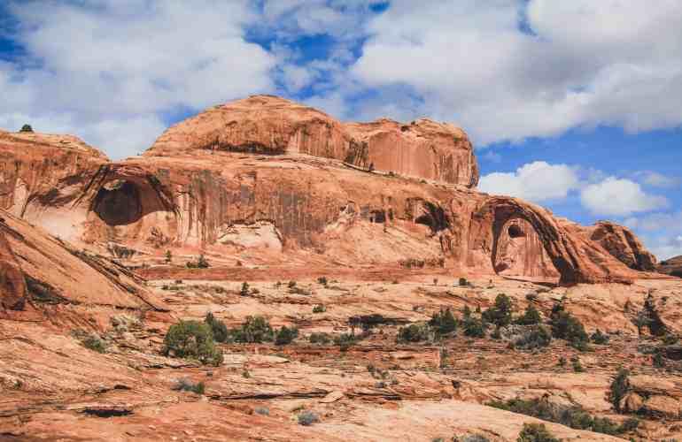 Potash Road Moab corona arch hike bowtie arch