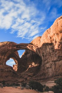 double arch arches national park moab utah