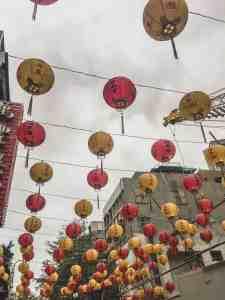lanterns in the street taipei taiwan